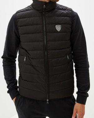 Спортивный костюм черный теплый Ea7
