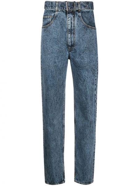 Прямые синие джинсы с карманами Maison Margiela
