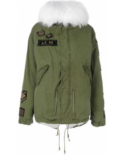 Куртка с капюшоном нейлоновая зеленая As65