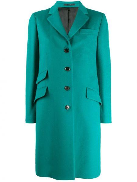 Однобортное длинное пальто с капюшоном на пуговицах Paul Smith