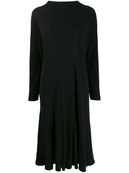 Шерстяное платье миди - черное Zucca