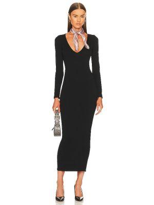 Sukienka długa elegancka - czarna L'academie