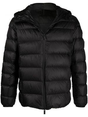 Czarna długa kurtka z długimi rękawami Moncler
