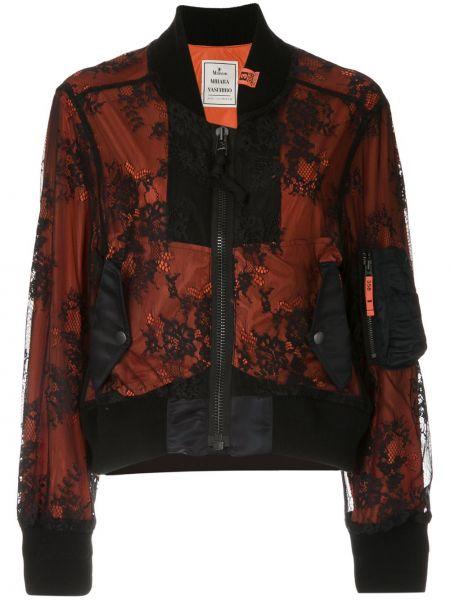 Черная куртка на молнии с воротником Maison Mihara Yasuhiro