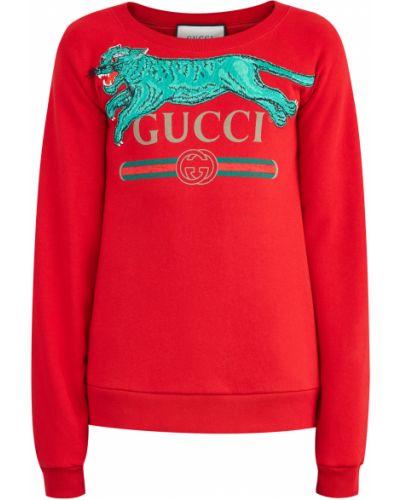Джемпер трикотажный из футера Gucci