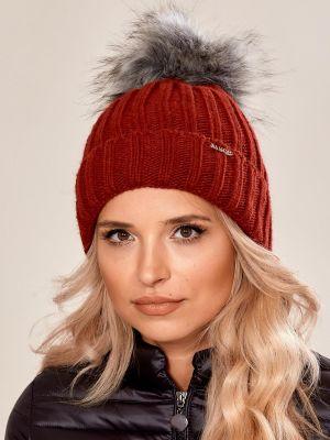 Czapka zimowa - czerwona Fashionhunters