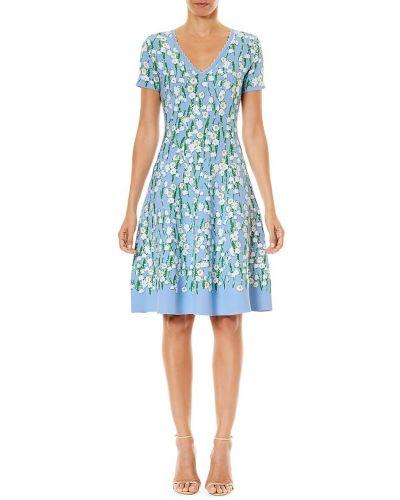 Sukienka mini rozkloszowana bawełniana krótki rękaw Carolina Herrera