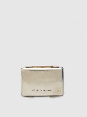 Серебряный кошелек металлический Brunello Cucinelli