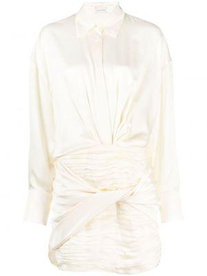 Платье макси с оборками с воротником на пуговицах Magda Butrym
