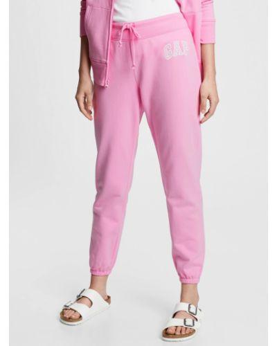 Флисовые спортивные брюки - розовые Gap