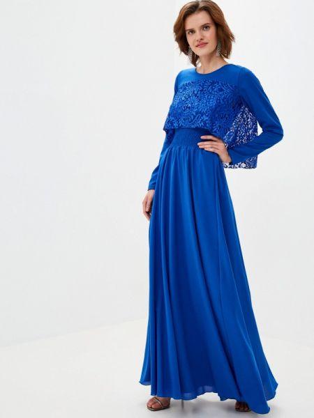 Вечернее синее вечернее платье Sahera Rahmani