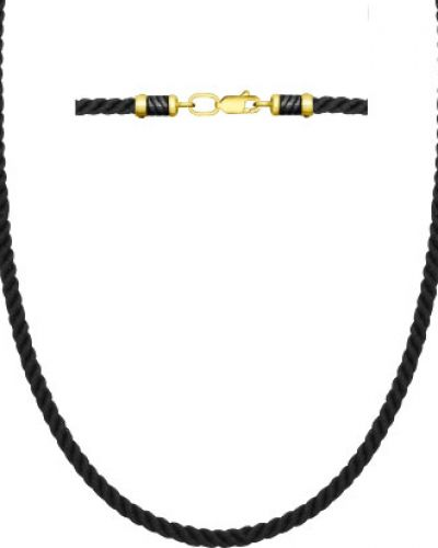 Цепочка из золота черный из серебра Sokolov