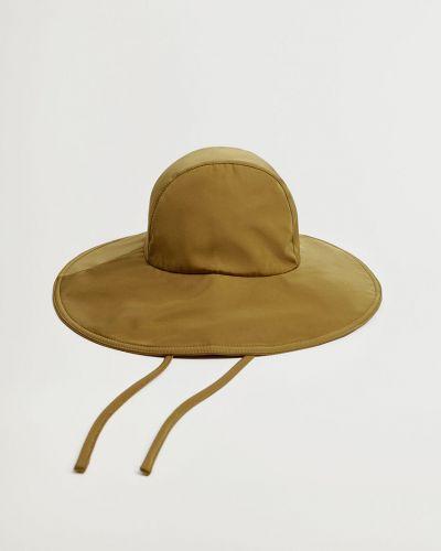 Żółty kapelusz bawełniany Mango