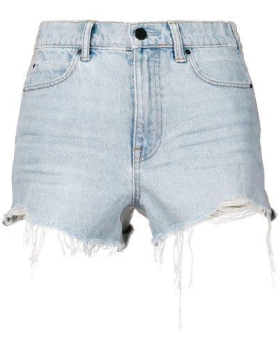Джинсовые шорты с бахромой с карманами Alexander Wang