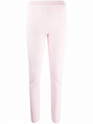 Spodnie z wiskozy - różowe Givenchy