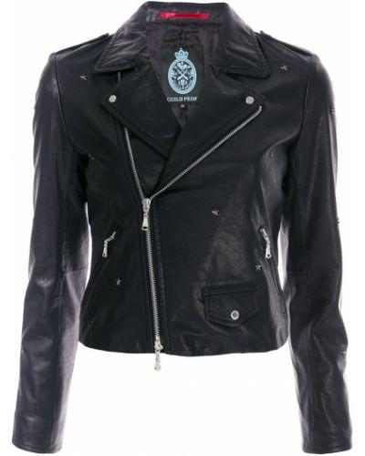 Черная длинная куртка для полных с подкладкой Guild Prime