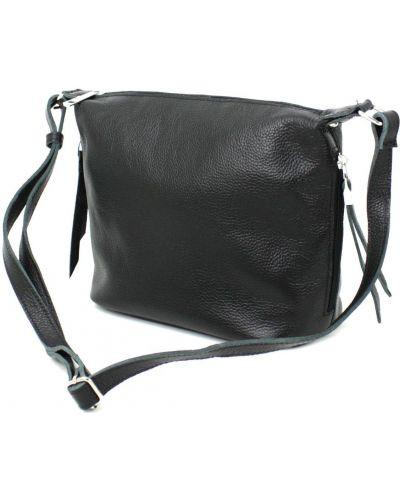 Кожаная сумка через плечо - черная Borsacomoda