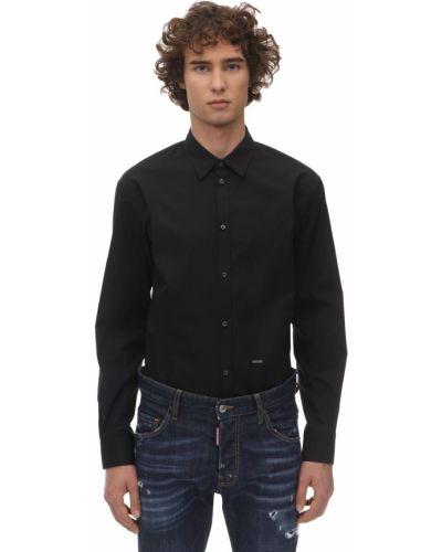 Классическая рубашка с манжетами под запонки с воротником-стойкой Dsquared2