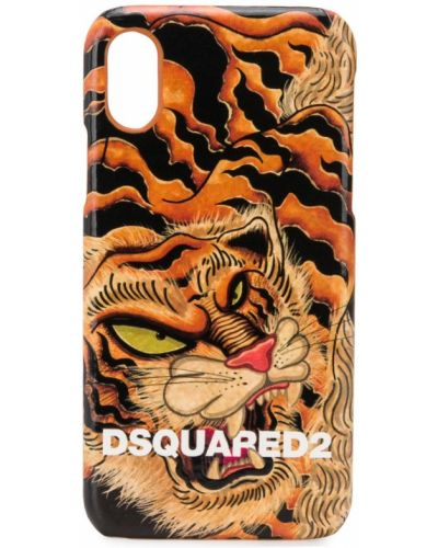Оранжевый футляр для очков Dsquared2