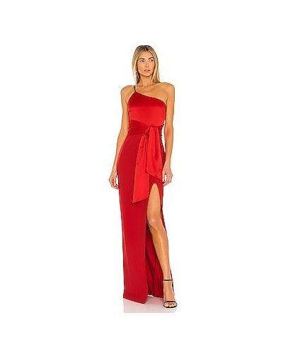 Шелковое красное вечернее платье с подкладкой Likely