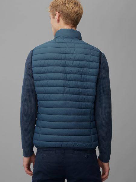 Синяя жилетка с карманами с воротником Marc O'polo