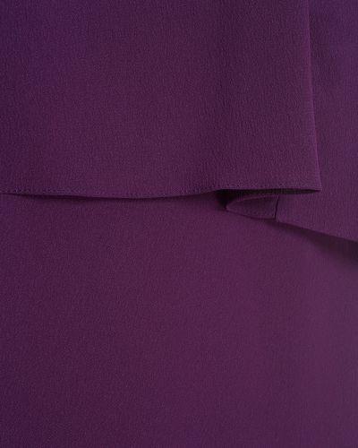 Платье макси с оборками Carven