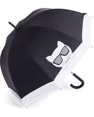 Черный складной зонт металлический Karl Lagerfeld
