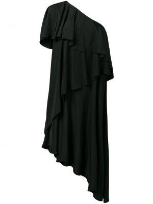 Свободное черное платье миди свободного кроя Lanvin