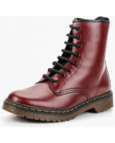 Кожаные ботинки осенние на каблуке Corina