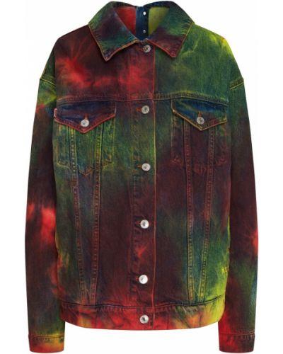 Джинсовая куртка оверсайз с надписью Msgm
