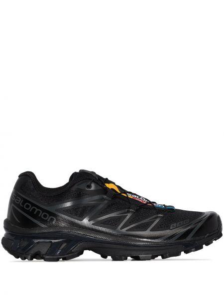 Черные кроссовки на шнуровке Salomon S/lab