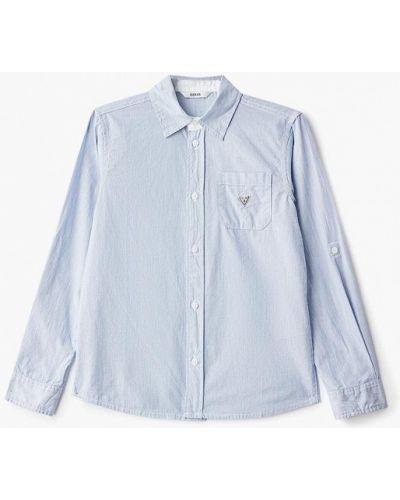 Рубашка голубой индийский Guess