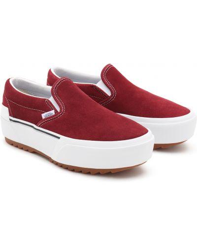 Красные замшевые слипоны Vans