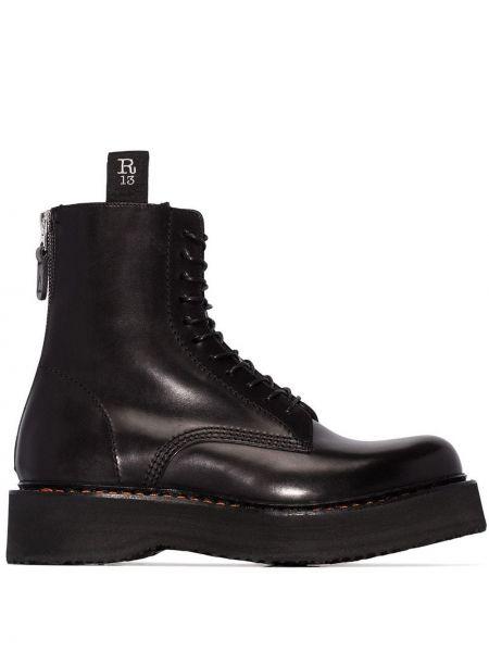 Сапоги черные на шнуровке R13