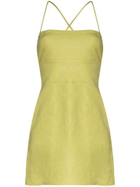 Приталенное платье мини - зеленое Reformation