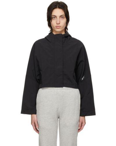 С рукавами черная длинная куртка с карманами Reebok Classics