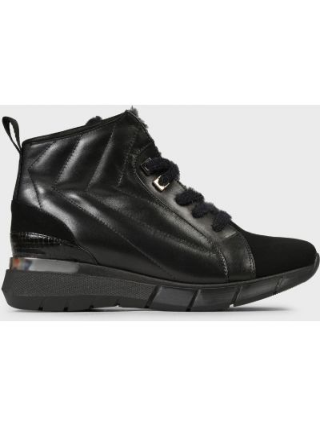 Кожаные ботинки - черные Helena Soretti