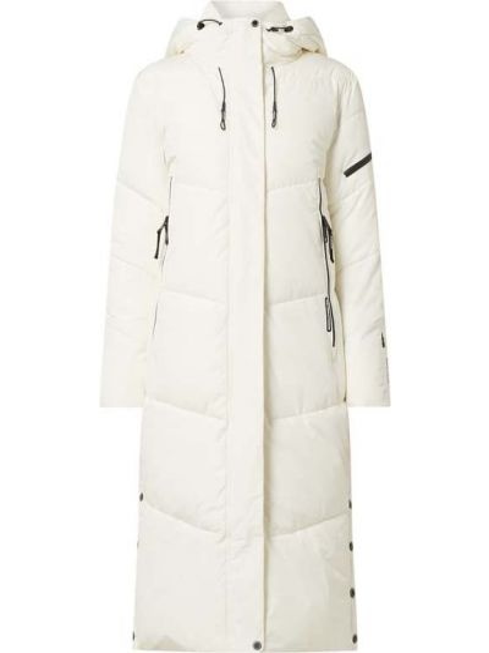 Biały płaszcz z kapturem Khujo