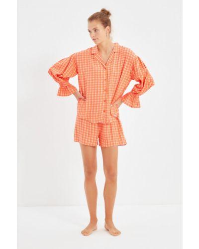 Piżama - pomarańczowa Trendyol