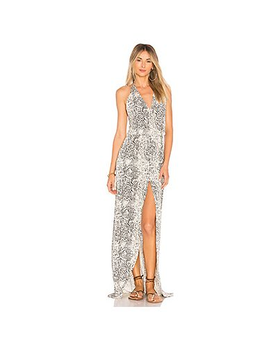 Платье с поясом с запахом с вырезом Luli Fama