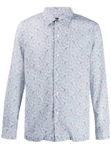 Koszula z długim rękawem prosto wzór paisley Dell'oglio