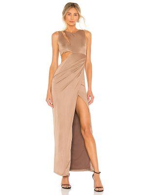 Brązowa sukienka wieczorowa Nbd