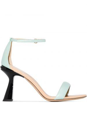 Черные кожаные сандалии с пряжкой Givenchy