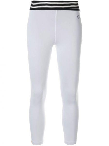 Белые приталенные брюки с поясом Monreal London