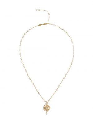 Золотистое ожерелье с жемчугом золотое Dolce & Gabbana