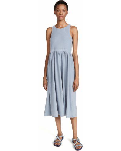 Платье из вискозы - синее D.ra