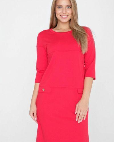Платье миди коралловый красный Eliseeva Olesya