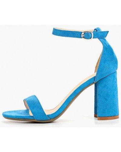 Босоножки на каблуке синий Martin Pescatore