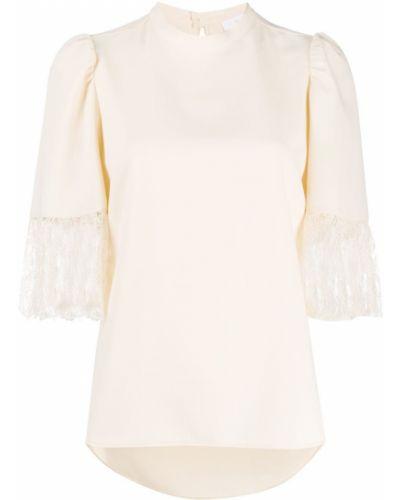 С рукавами блузка с воротником на пуговицах со вставками See By Chloé