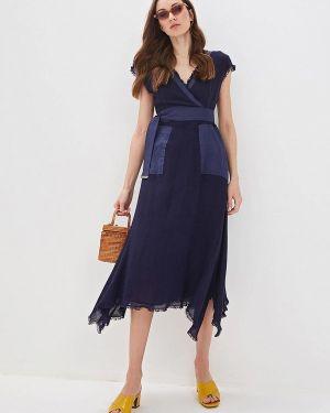 Платье с запахом синее Adolfo Dominguez